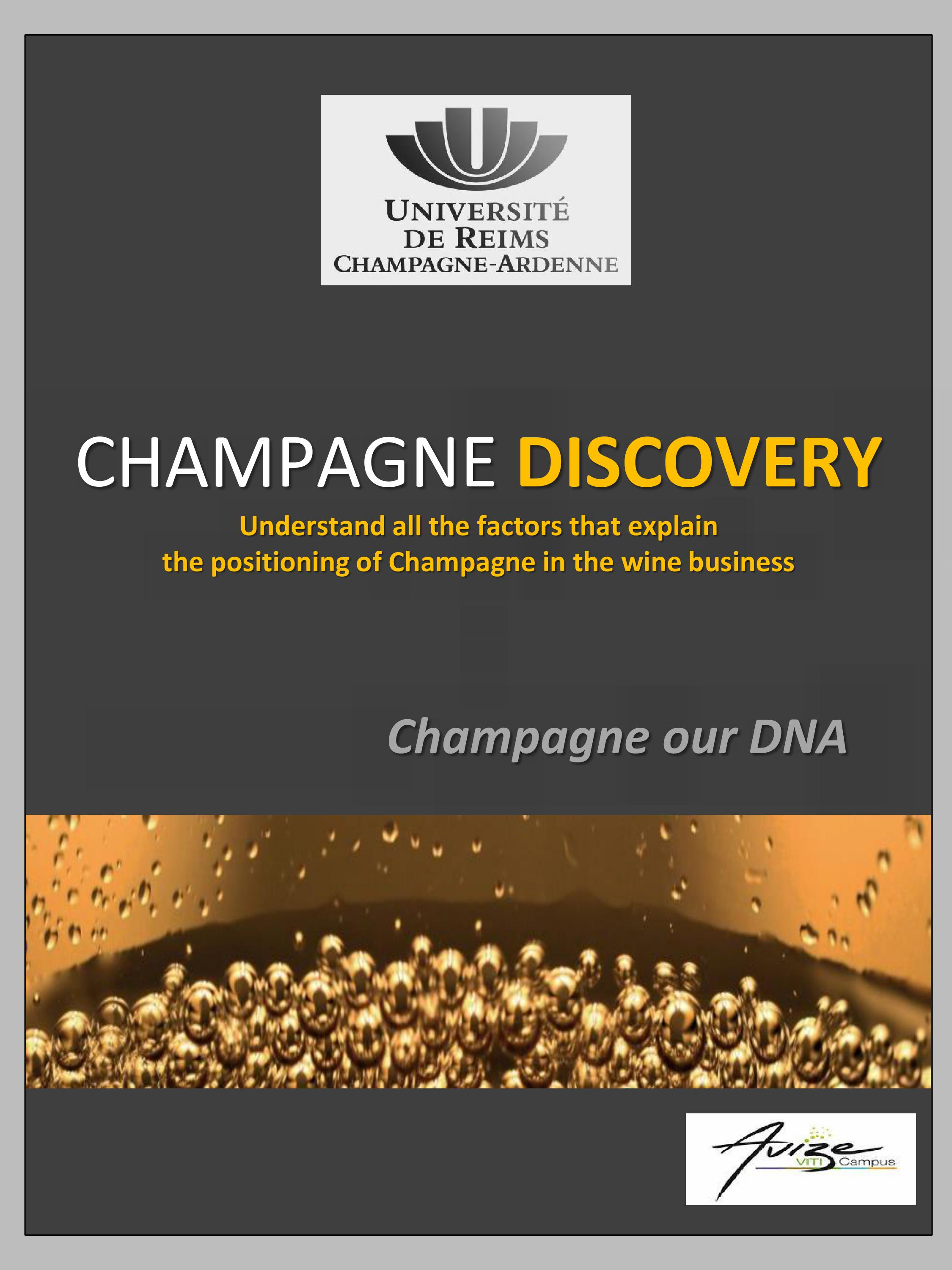 Champagne discovery our dna - Universite reims champagne ardenne bureau virtuel ...