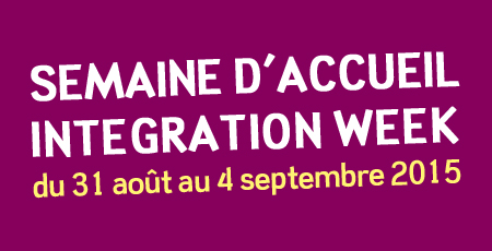 Semaine d'Accueil - Integration Week 2015