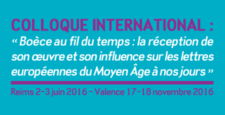 Colloque international « Boèce au fil du temps »