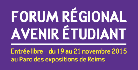 forum avenir tudiants de reims du 19 au 21 novembre au parc des expositions de reims. Black Bedroom Furniture Sets. Home Design Ideas