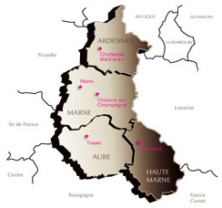 Carte Champagne-Ardenne