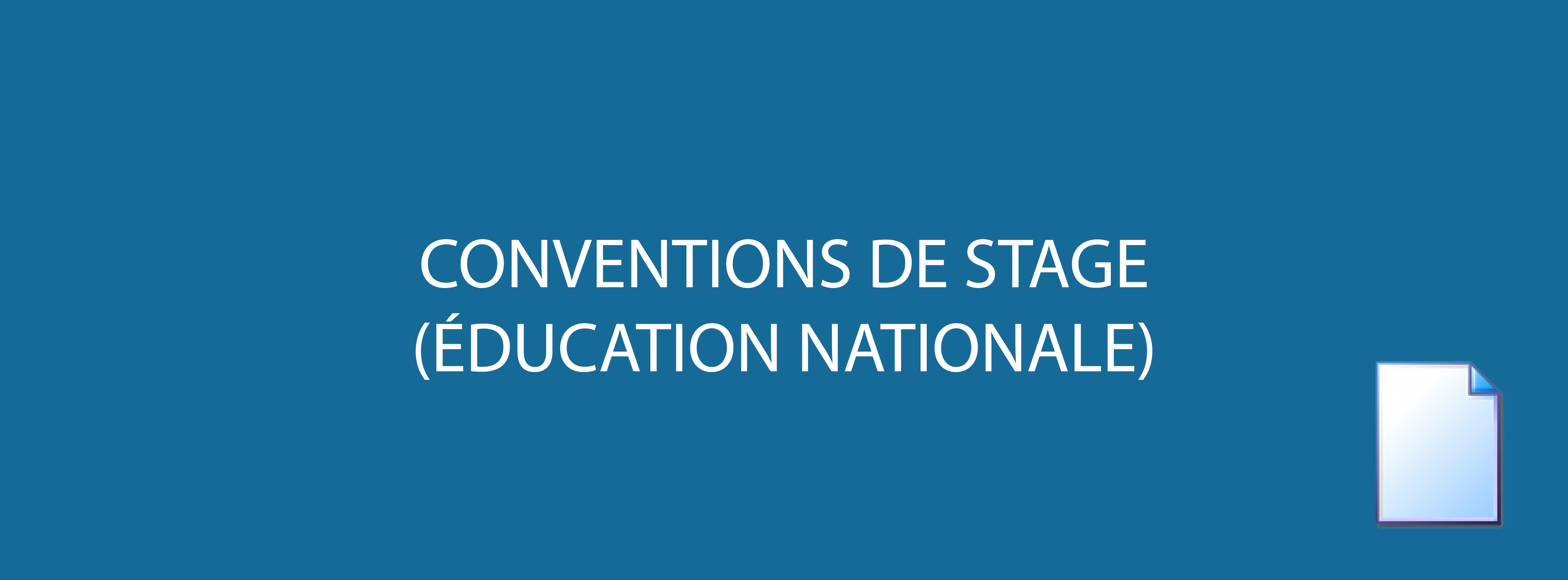 Conventions de stage - Éducation Nationale