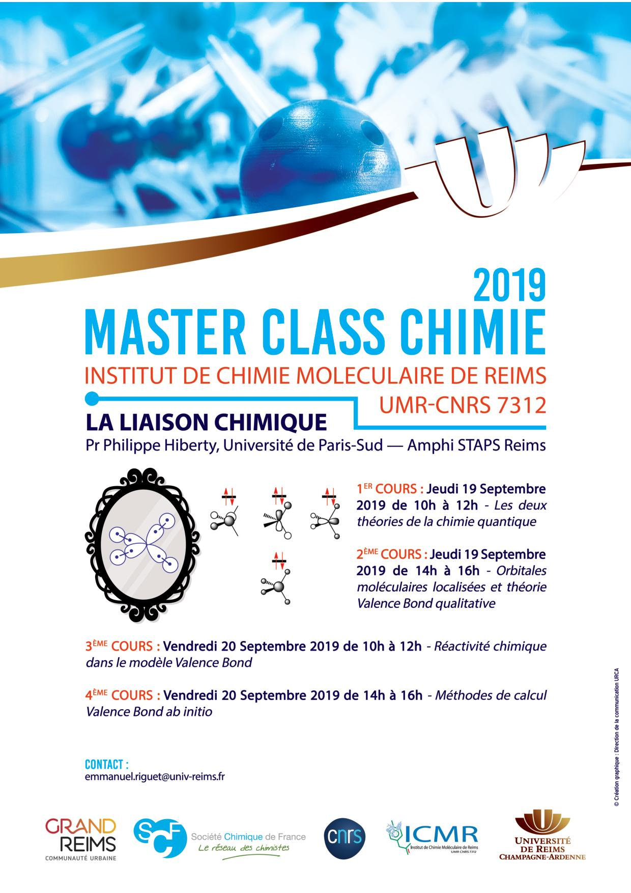Affiche Master Class Chimie 2019
