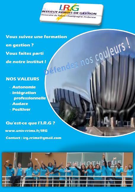 Nouvelle affiche irg - Universite reims champagne ardenne bureau virtuel ...