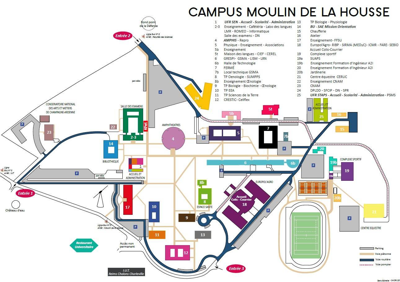 Plan campus Moulin de la Housse