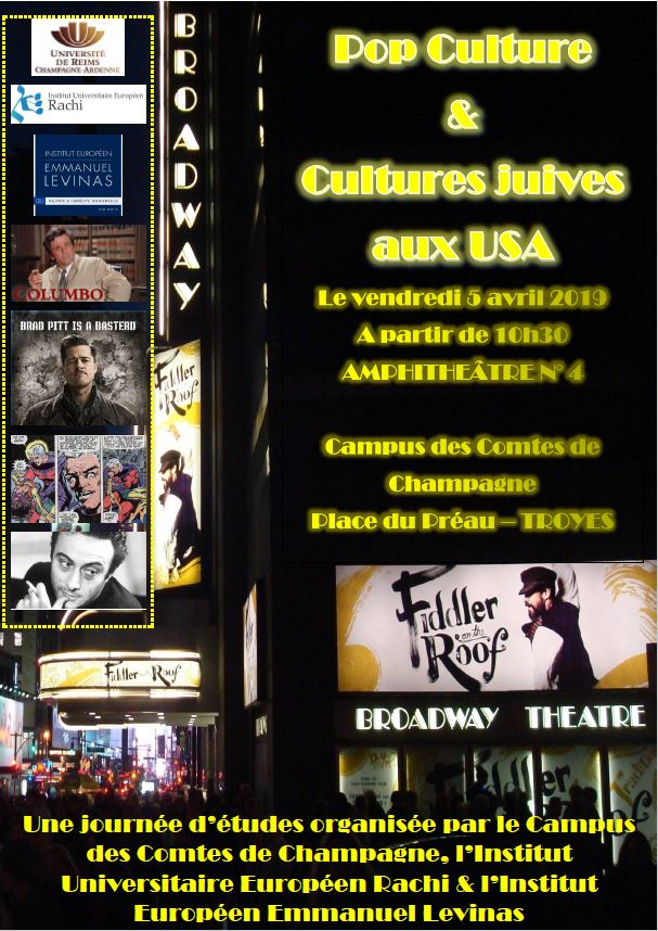 Pop Culture et Cultures Juives aux USA