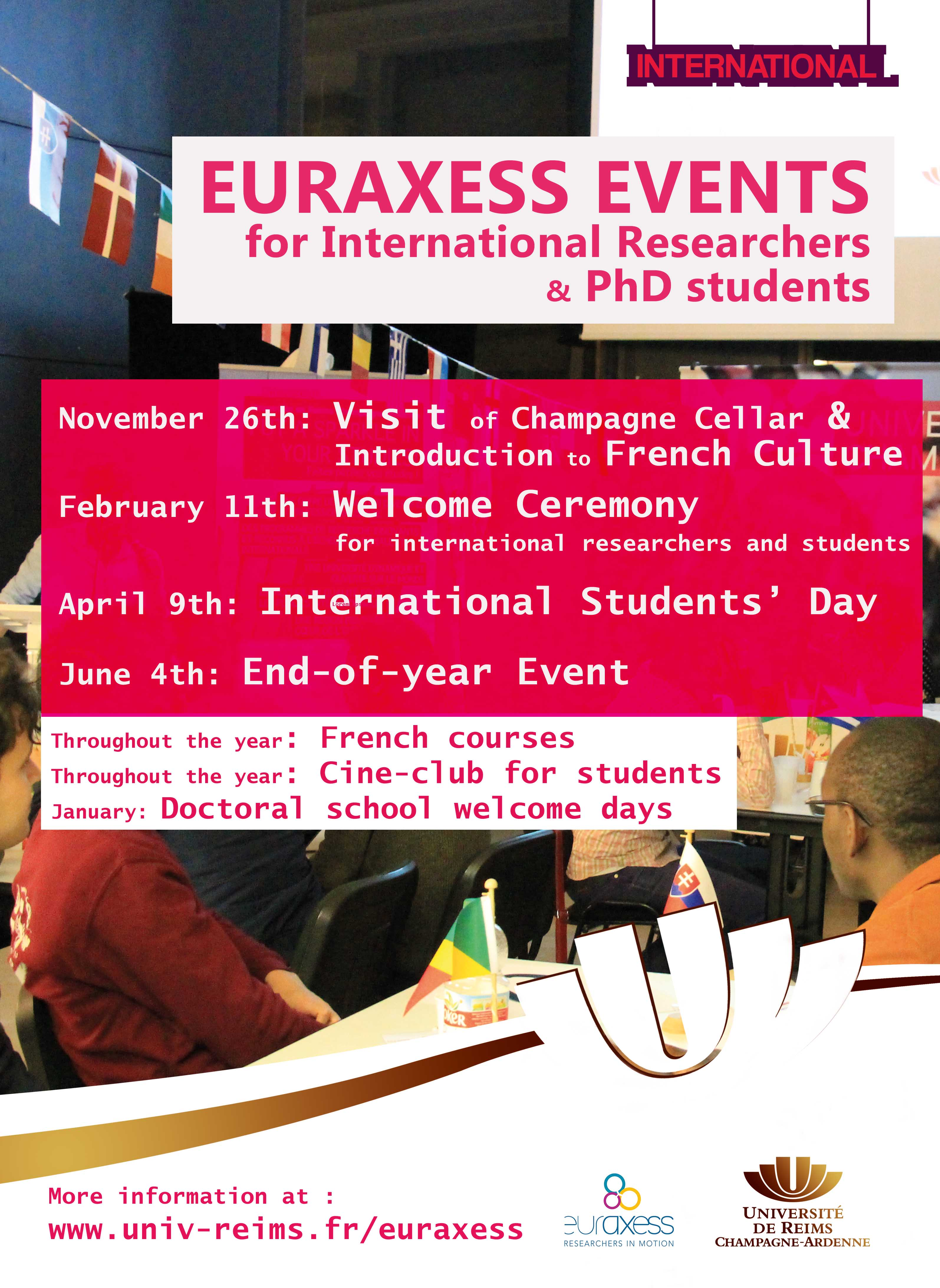 euraxees welcome events