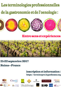 Colloque international -Les terminologies professionnelles de la gastronomie