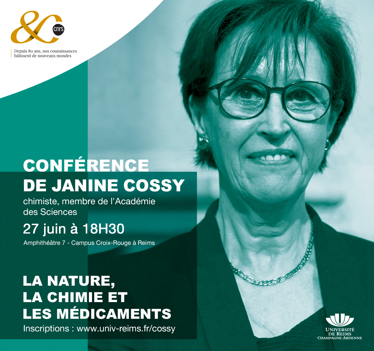 Affiche Conférence Janine Cossy